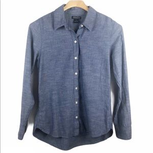 Lucky Brand Blue Chambray Button Down Shirt Small